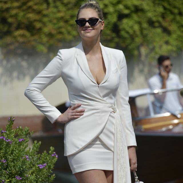 White, Clothing, Fashion model, Eyewear, Fashion, Dress, Sunglasses, Shoulder, Beauty, Street fashion,