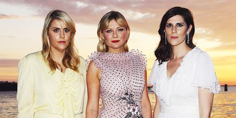 Kate and Laura Mulleavy and Kirsten Dunst