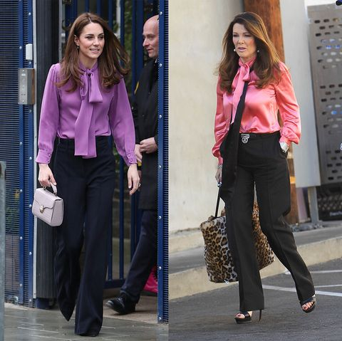 celebrities who dressed exactly like royals   kate middleton and lisa vanderpump