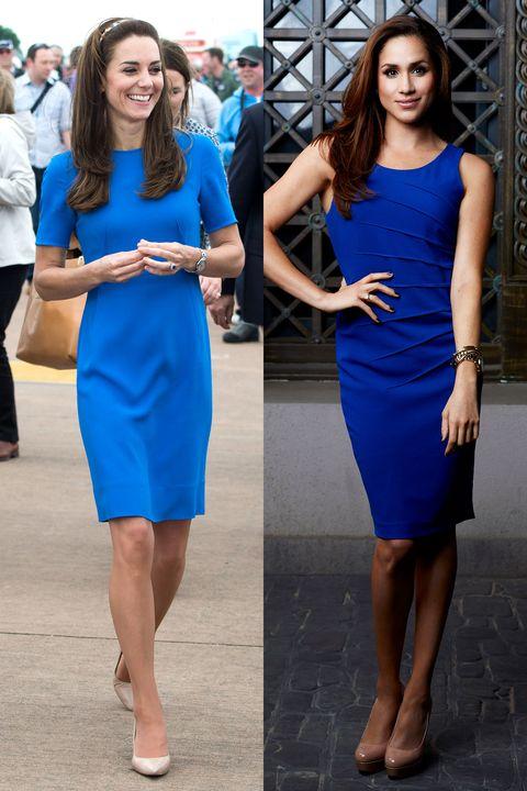 Cobalt blue, Blue, Clothing, Dress, Electric blue, Cocktail dress, Street fashion, Fashion, Fashion model, Footwear,