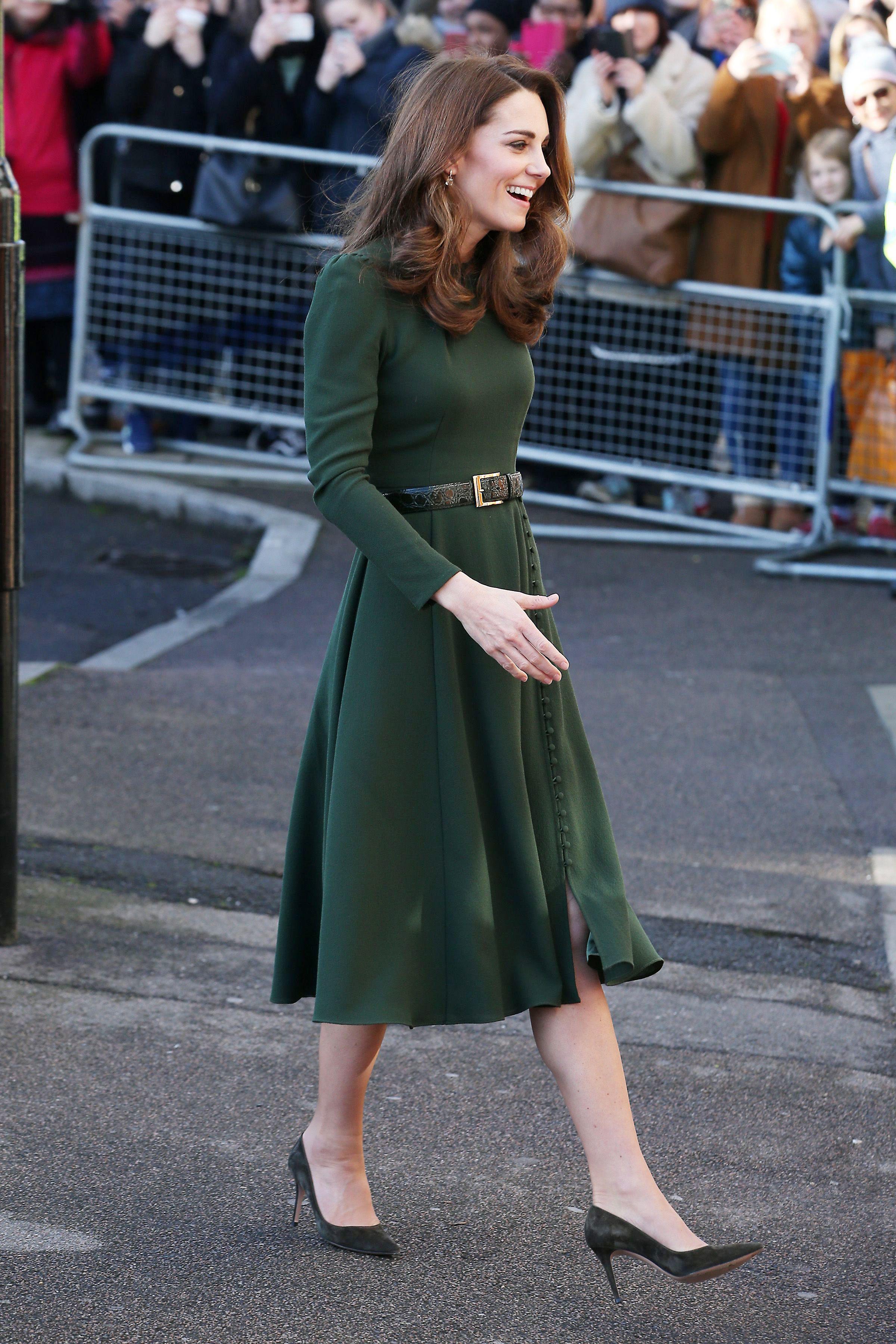 2831902f96 Kate Middleton Green Dress 2019 - Kate Middleton Family Action Engagement  2019