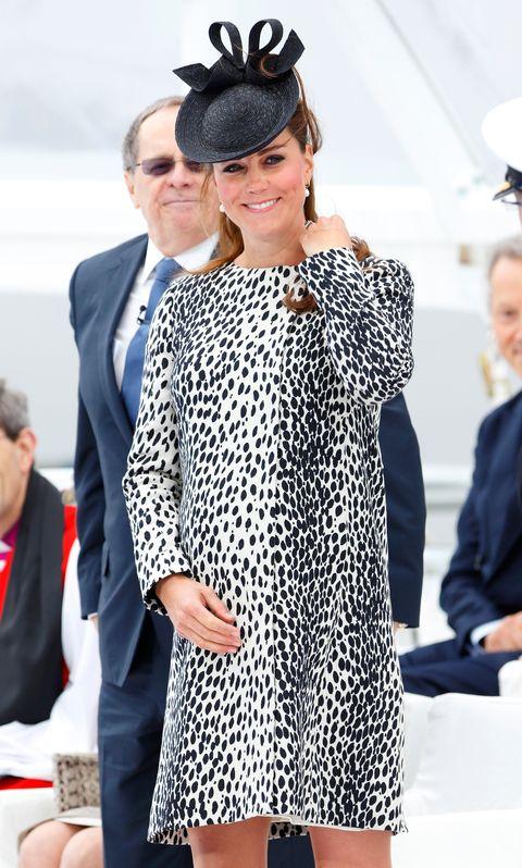 Kate Middleton in printed dress