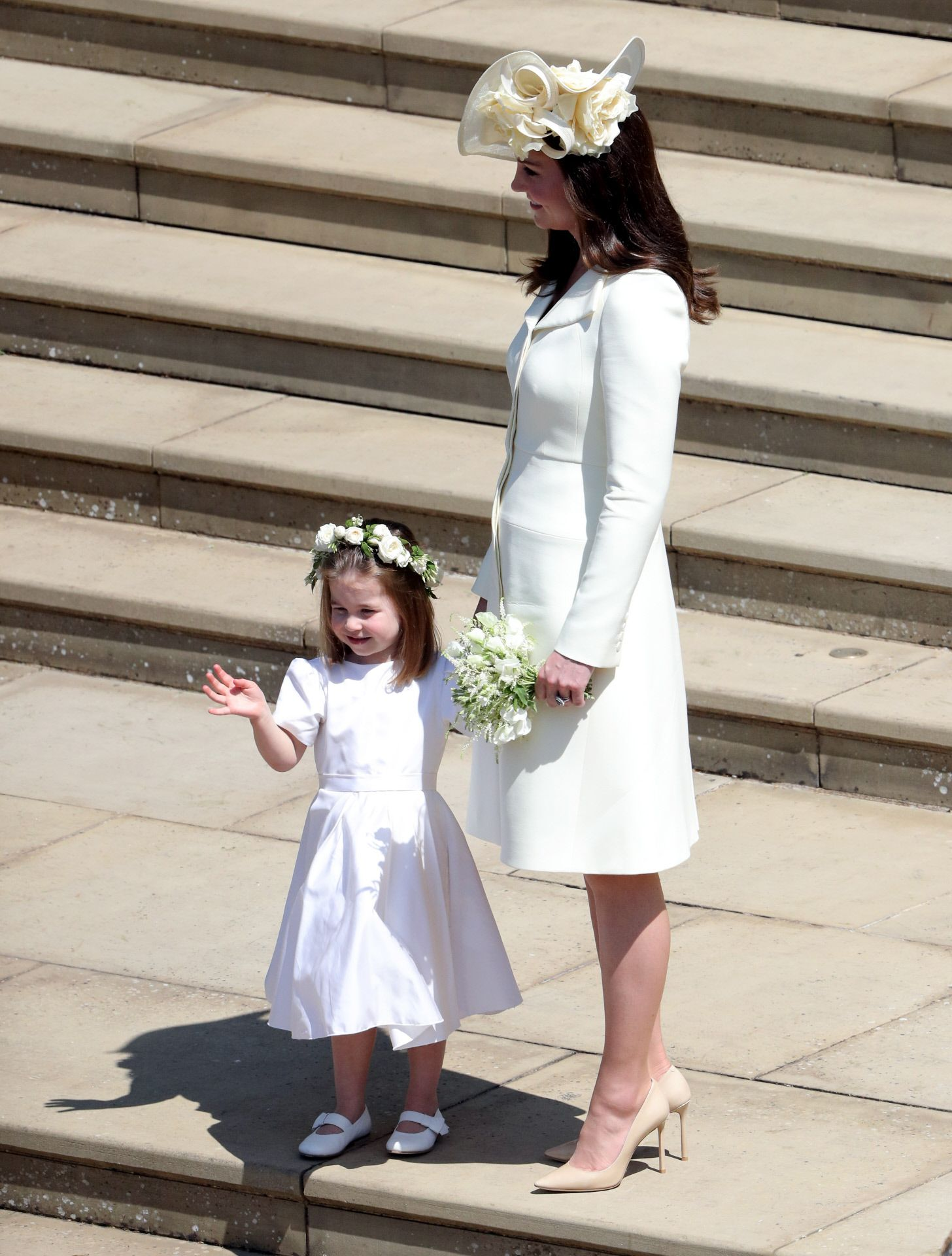 Kate Middleton y su hija Carlota