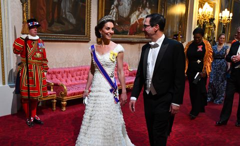 ac521c49c385 Kate Middleton wears the frothiest white Alexander McQueen dress for State  Dinner