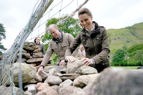 Kate Middleton and Prince William got hands-on shearing sheep at a farm in Cumbria