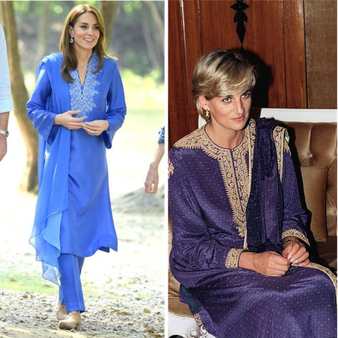 kate middleton and princess diana style