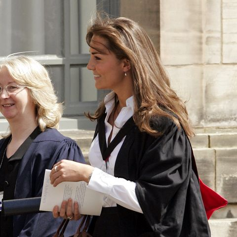 kate middleton attends her graduation ceremony at the