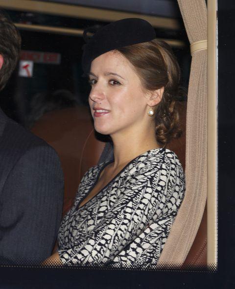 one of kate middleton's best friends, emilia jardine paterson, pictured on the day of prince george's christening