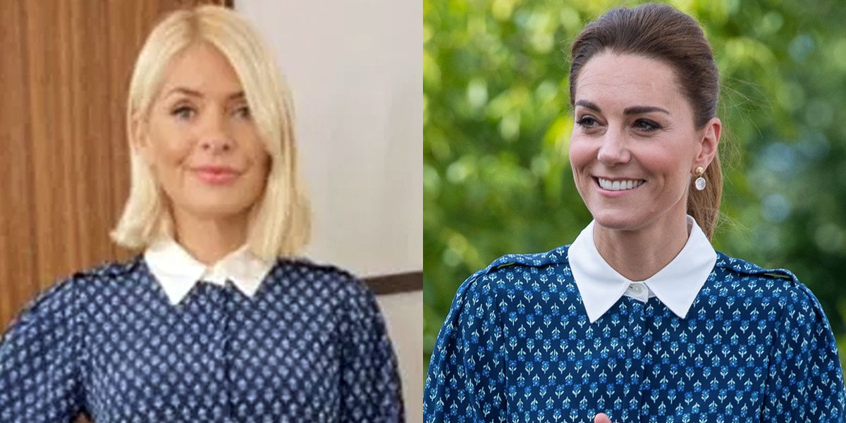Kate Middleton just wore the exact same dress as Holly Willoughby