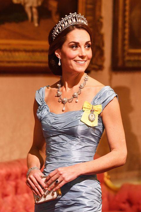 Kate Middleton blue state banquet dress