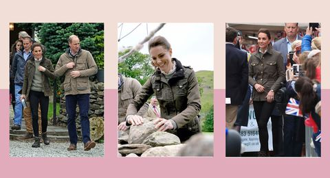 The queen of informal dressing wears her most casual outfit to date in Cumbria with Prince William