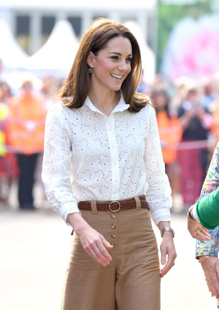 The Duchess of Cambridge looks so autumnal in LK Bennett dress