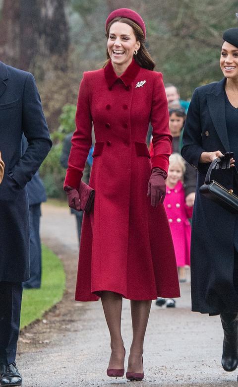 キャサリン妃 クリスマス ファッション ロイヤルファミリー