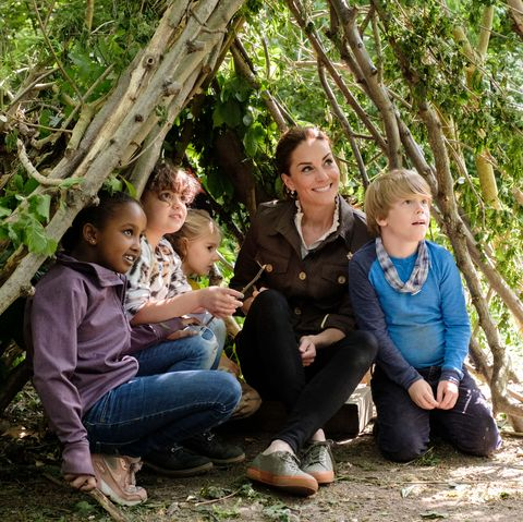Kate Middleton with children - Blue Peter competition