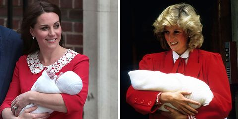 f89bed4bd8f9c Kate Middleton's tribute to Diana after giving birth to royal baby three