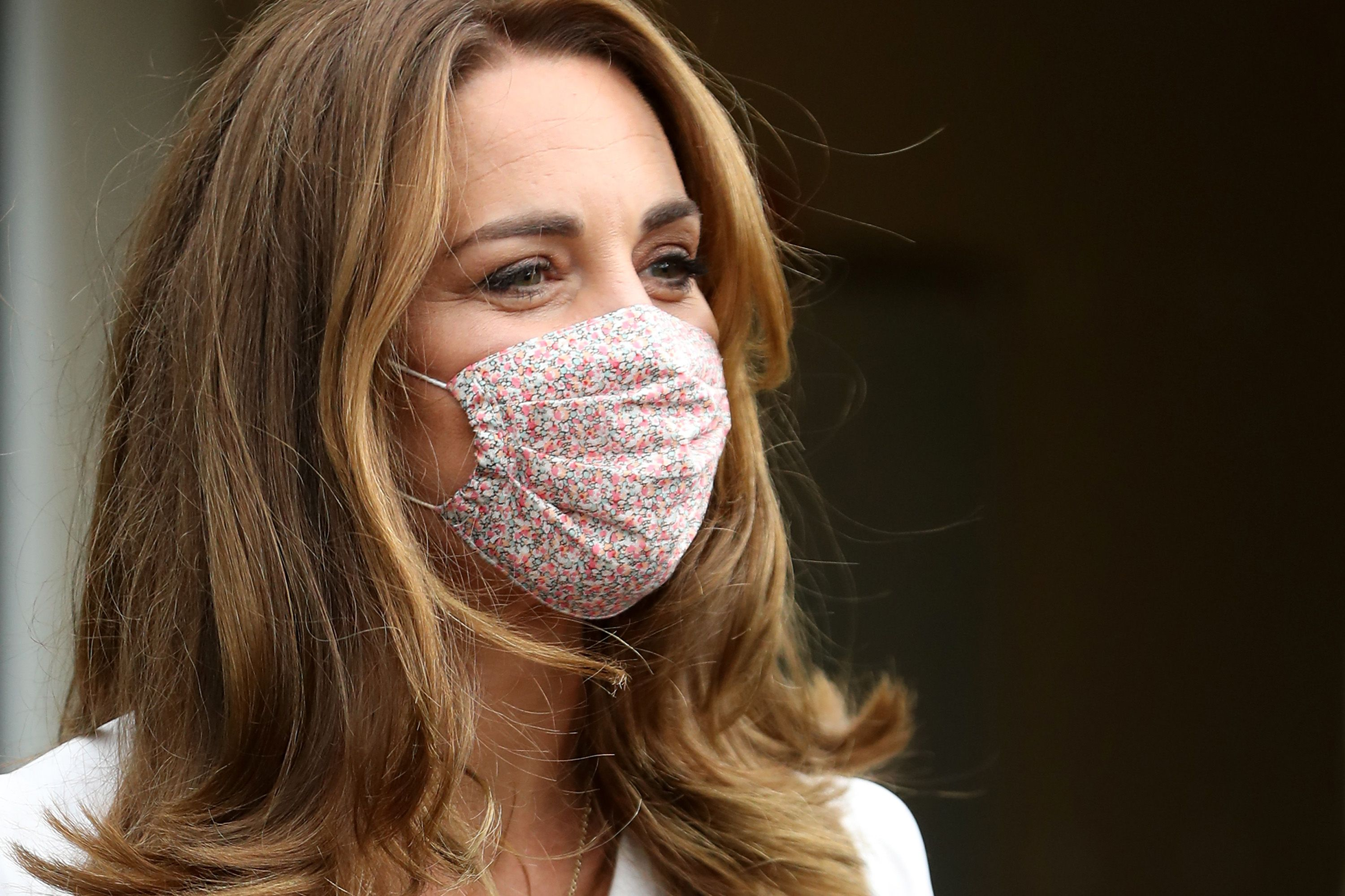 Kate Middleton has been pictured wearing a face mask for the first time