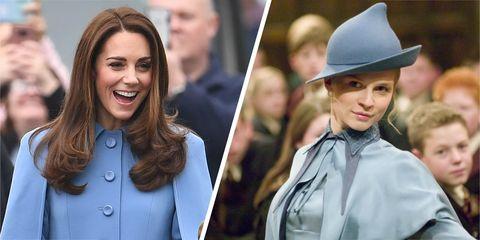 Kate Middleton dressed like Fleur Delacour from Harry Potter
