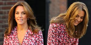 kate middleton red floral dress