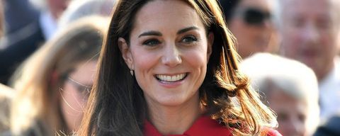 Kate Middleton with flowers during public appearance