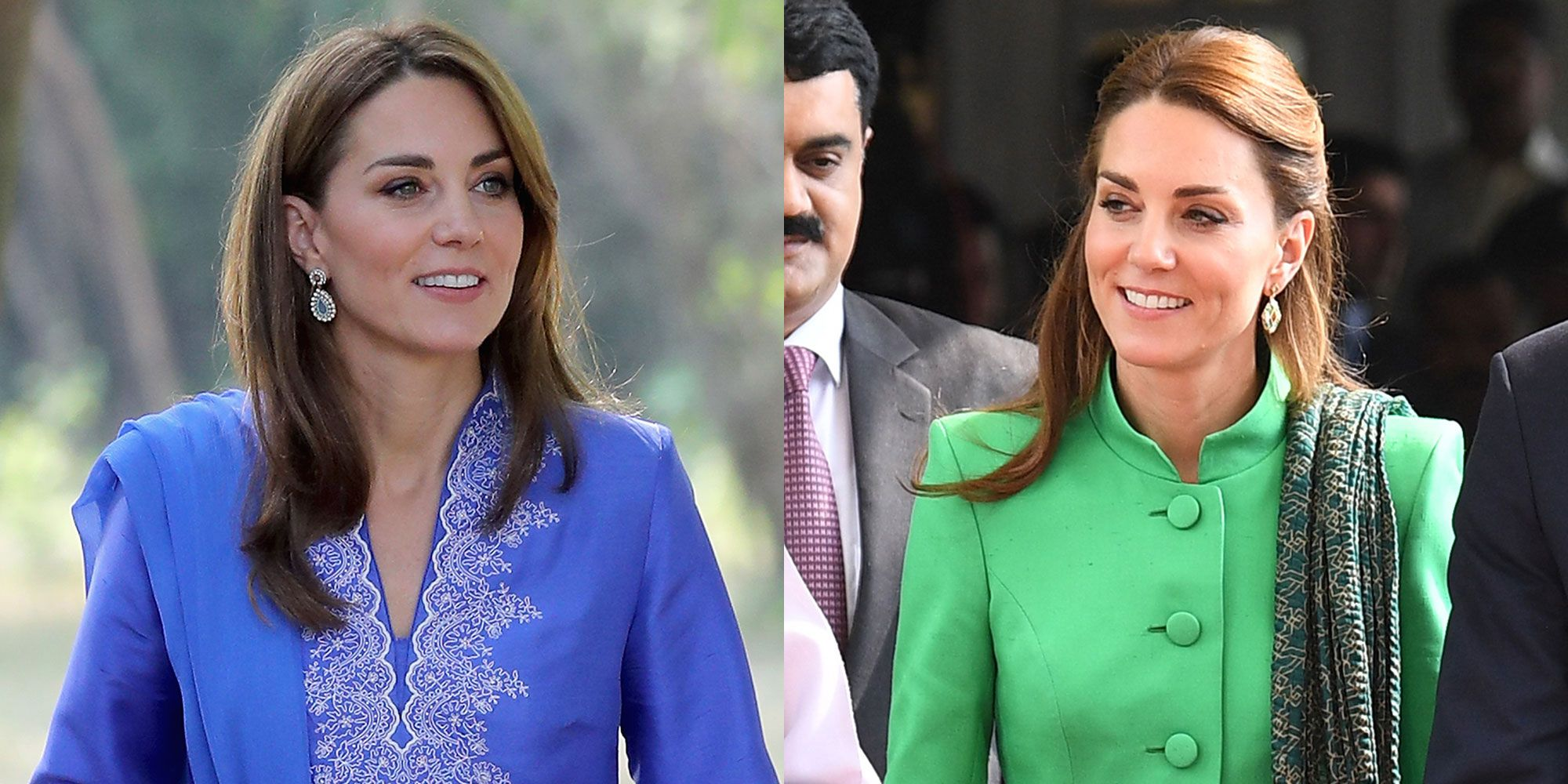 Kate Middleton Wore Two New Looks, a Blue Kurta and Green Tunic, for Day 2 of Her Pakistan Tour