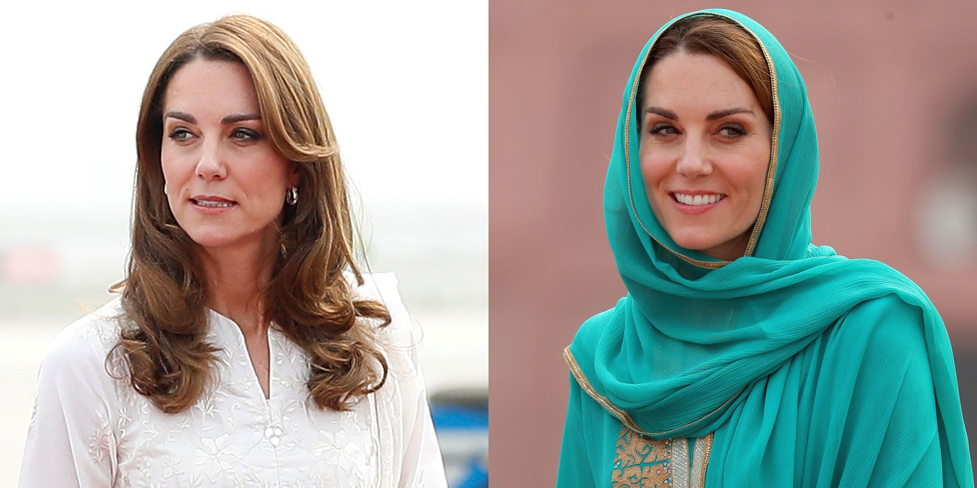 Kate Middleton's White and Green Outfits In Pakistan Are Two of Her Best Yet