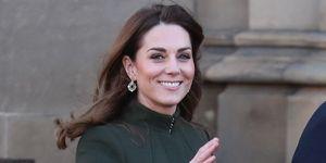 Kate Middleton green coat dress
