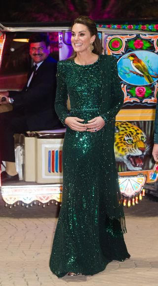 cheap for sale enjoy lowest price search for newest Emerald Green Sequin Long Sleeved Plunging Neckline Dress