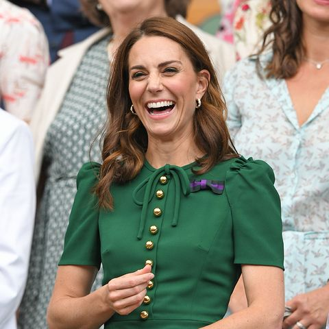 london, england   july 13 catherine, duchess of cambridge in the royal box on centre court during day twelve of the wimbledon tennis championships at all england lawn tennis and croquet club on july 13, 2019 in london, england photo by karwai tanggetty images