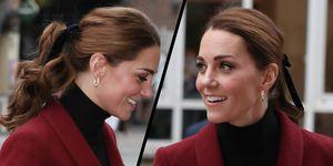Duchess of Cambridge's velvet hair bow
