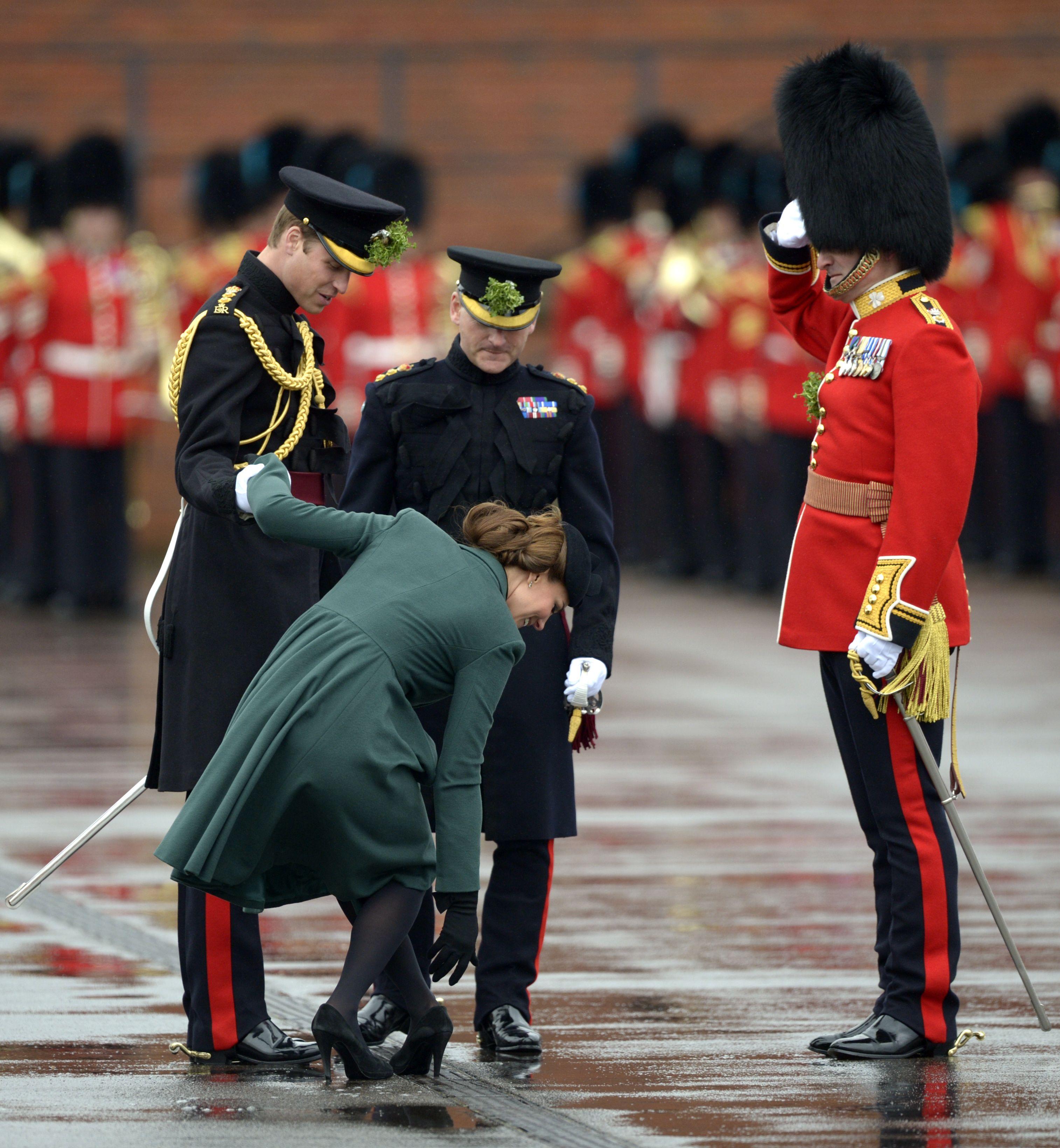 Kate Middleton , heel, grate, St Patrick's Day