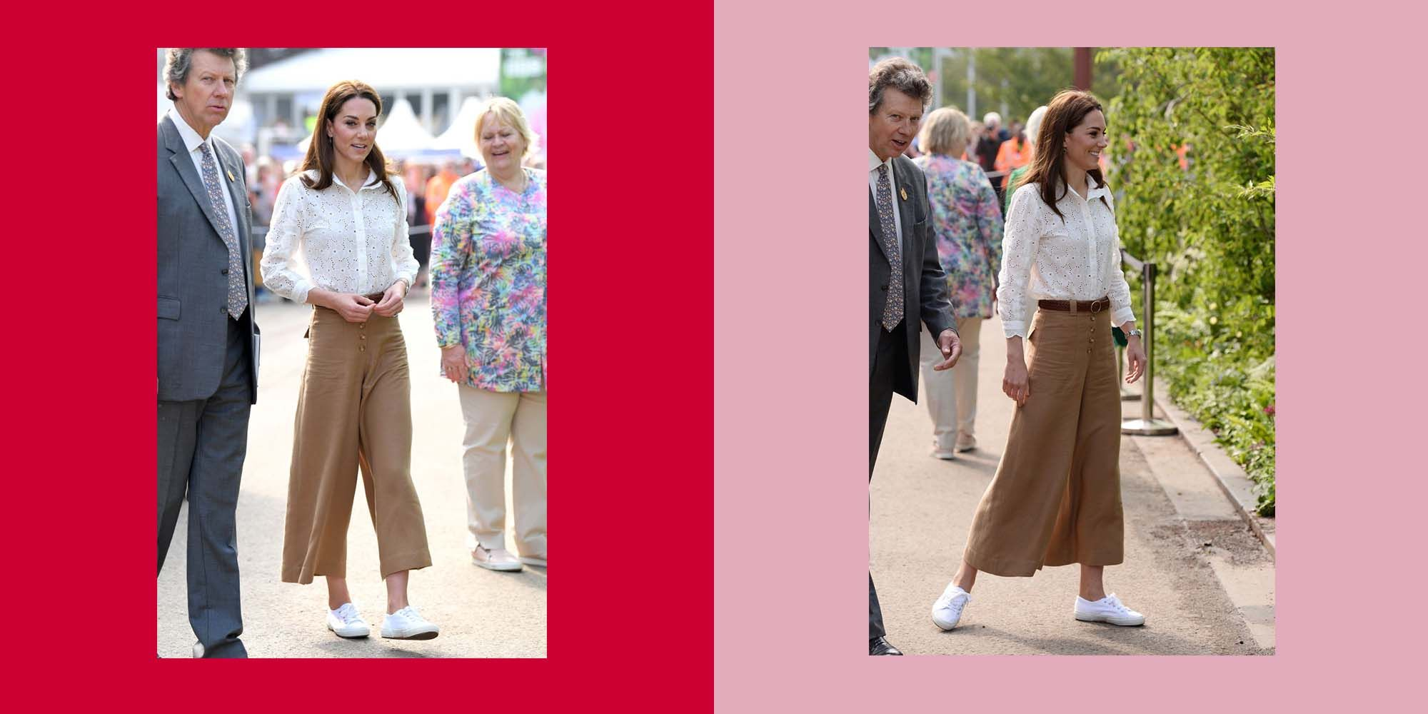 kate middleton brown culottes