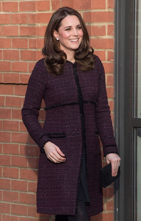 kate middleton maternity look purple coat