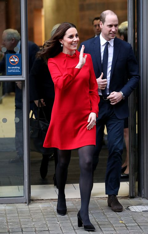 kate middleton maternity look red dress