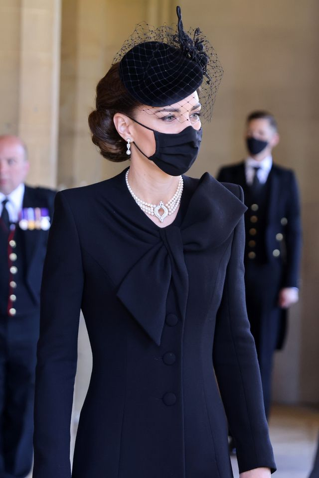 the duchess of cambridge at prince philip's funeral