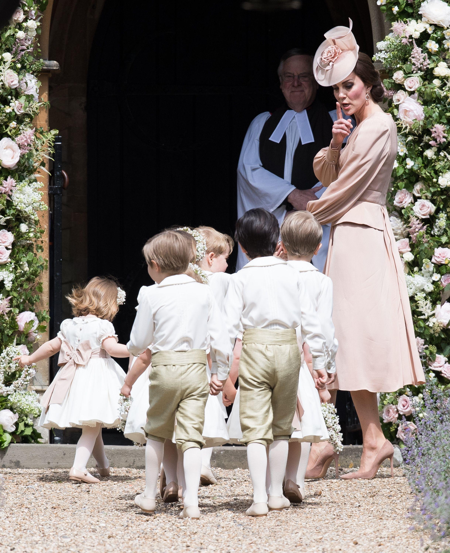 6559966734fbb Kate Middleton shh-ing the kids at Pippa s wedding is everything