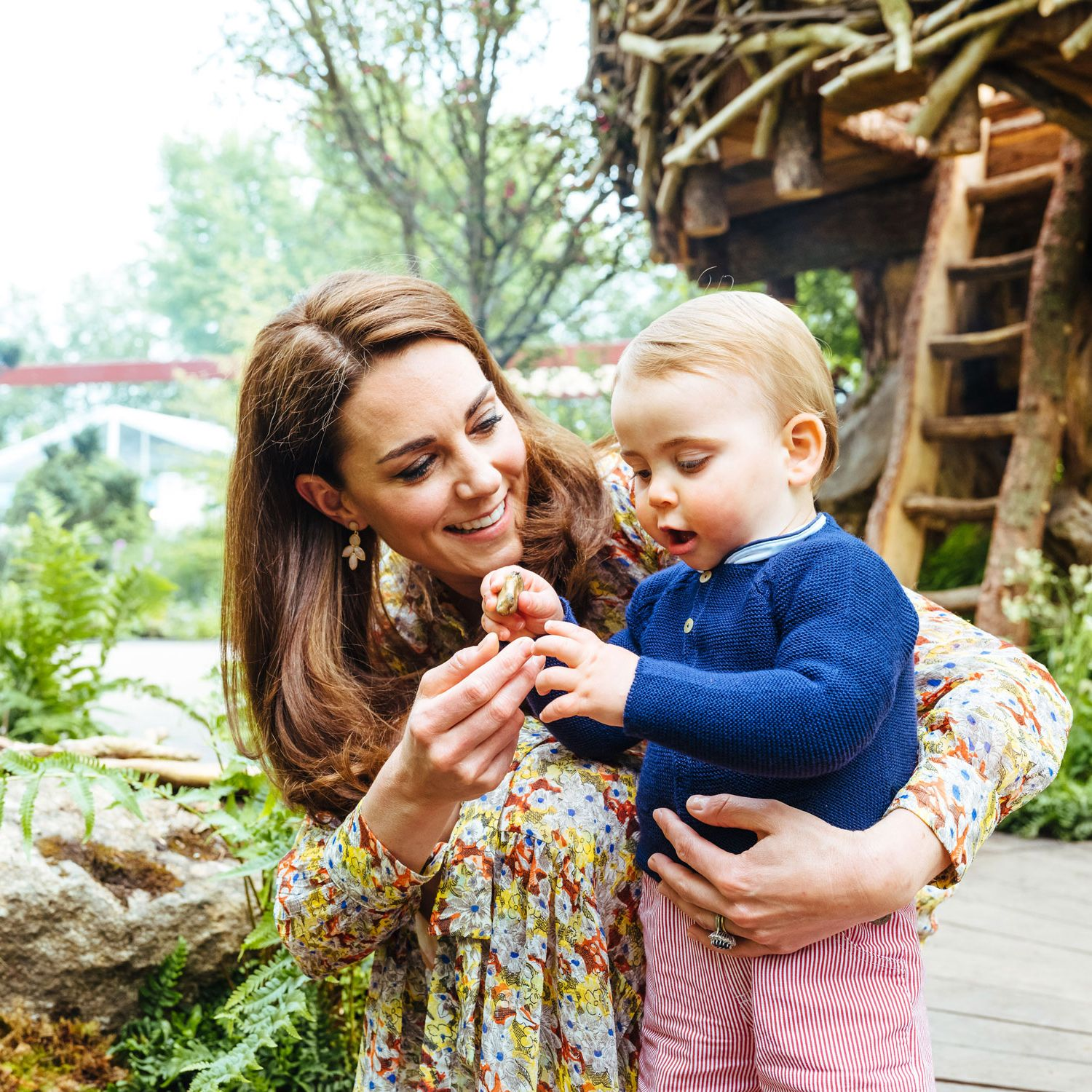 kate middleton prince louis back to nature garden chelsea flower show