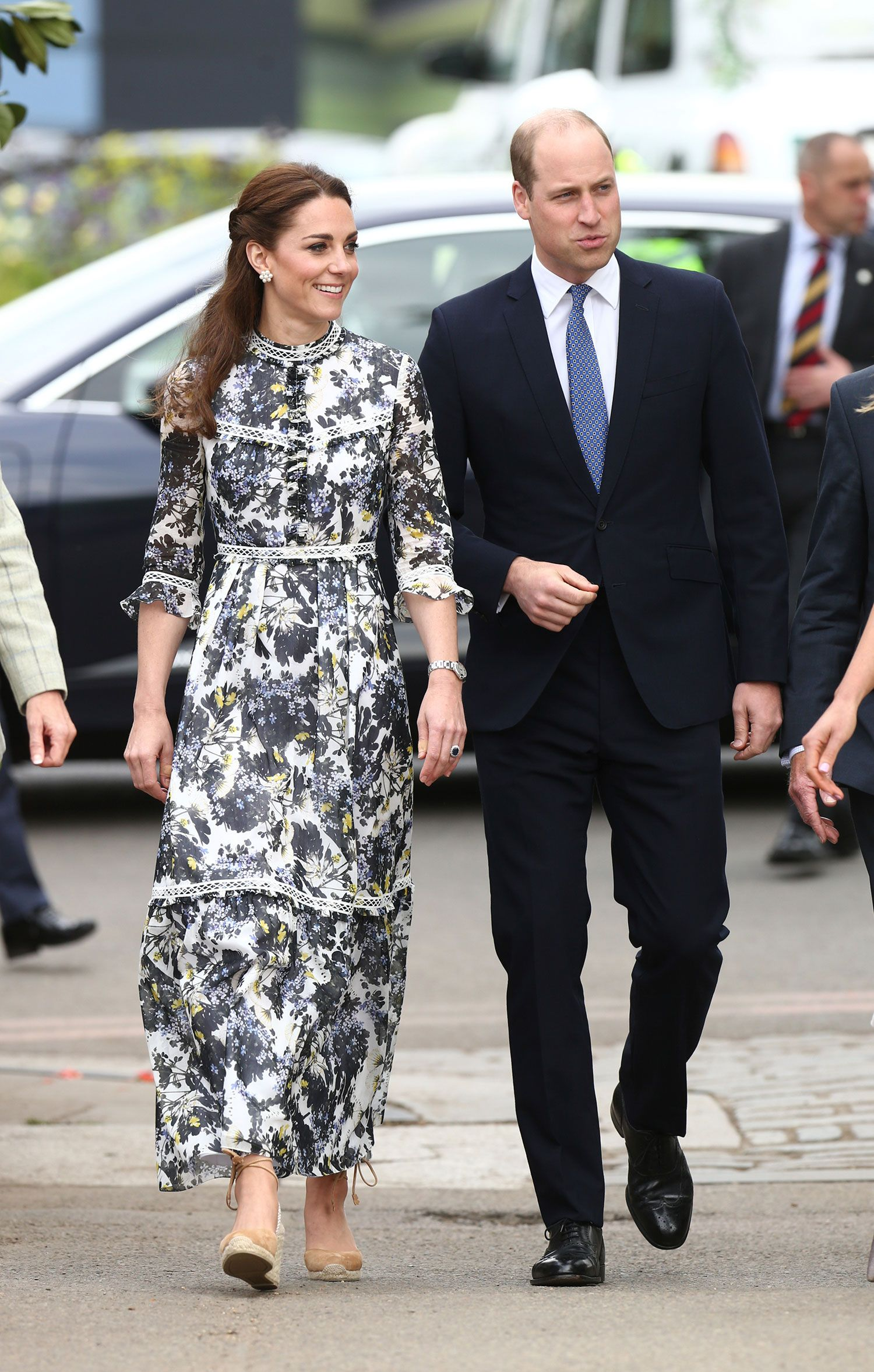 Kate Middleton Went Out in a Daenerys-Like Braided Hairstyle and Floral Erdem Dress for the Queen's Chelsea Flower Show Visit