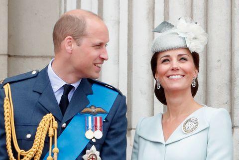 Prince William Nudging Kate Middleton on the Buckingham Palace Balcony