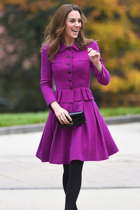 catherine, duchess of cambridge aka kate middleton wears every colour of the rainbow except orange
