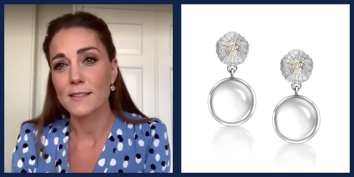 Kate Middleton Loves a Statement Earring in Quarantine