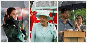 kate middleton queen elizabeth meghan markle prince harry umbrella