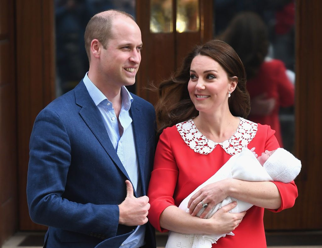 Kate Middleton Wore a Red Maternity Dress to Introduce New Royal Baby