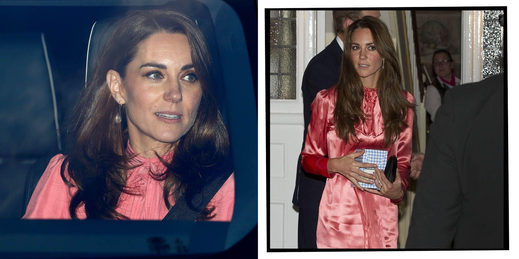 Kate Middleton rewears pink dress