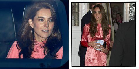 9648c1d28f Kate Middleton s Pink Sleeved Shift Dress Is Effortlessly Fashion ...