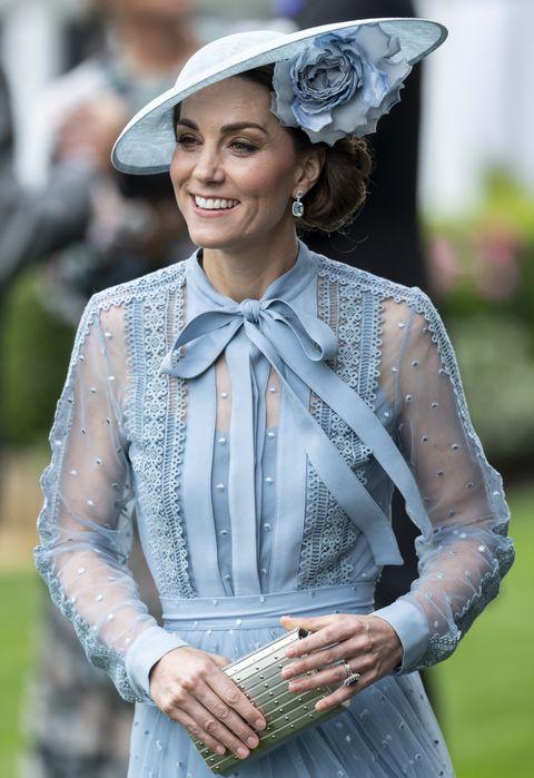 Kate Middleton Wins Royal Ascot In Blue Elie Saab Dress