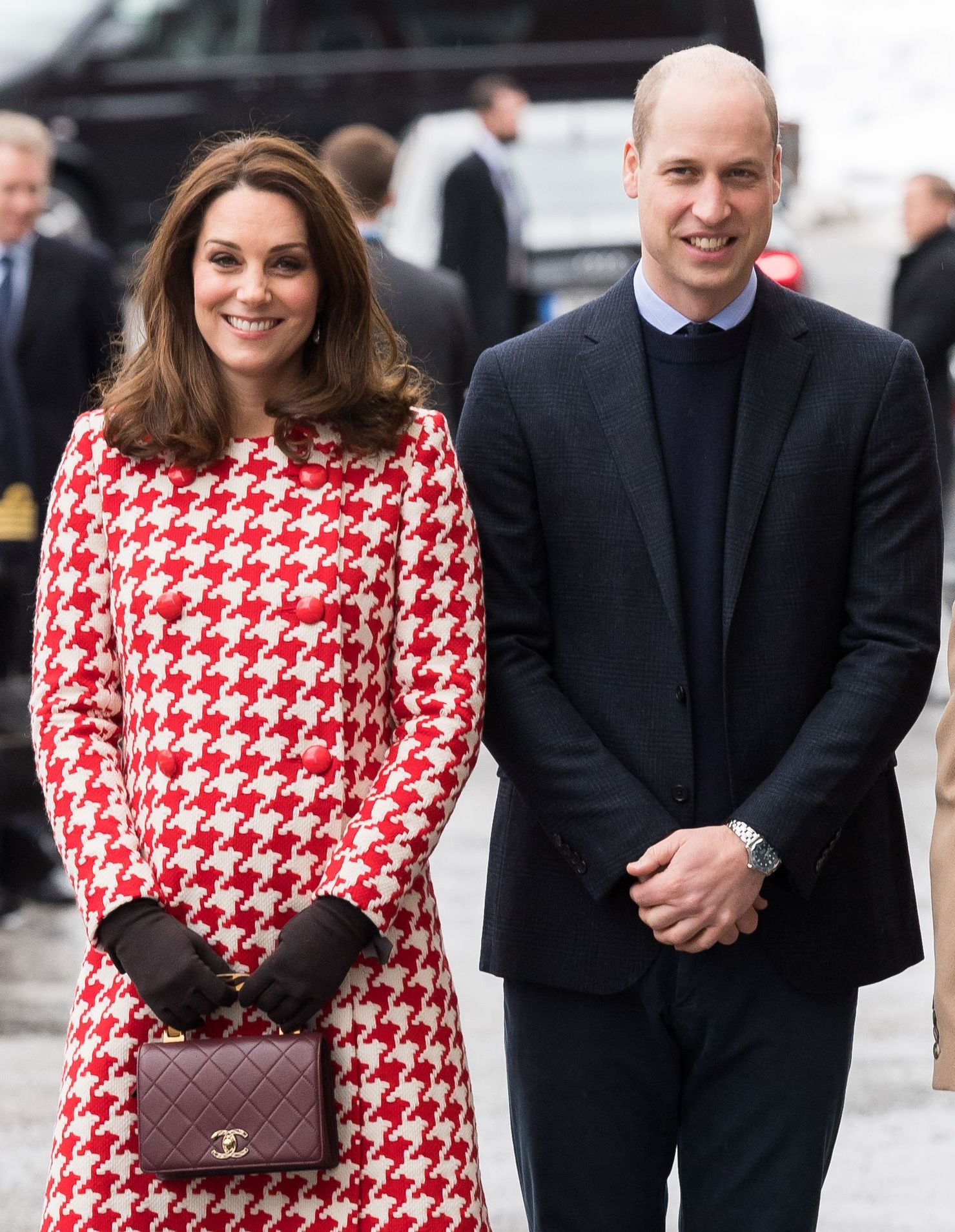 Catherine, Duchess of Cambridge and Prince William, Duke of Cambridge on their royal visit to Stockholm, Sweden on January 31, 2018.