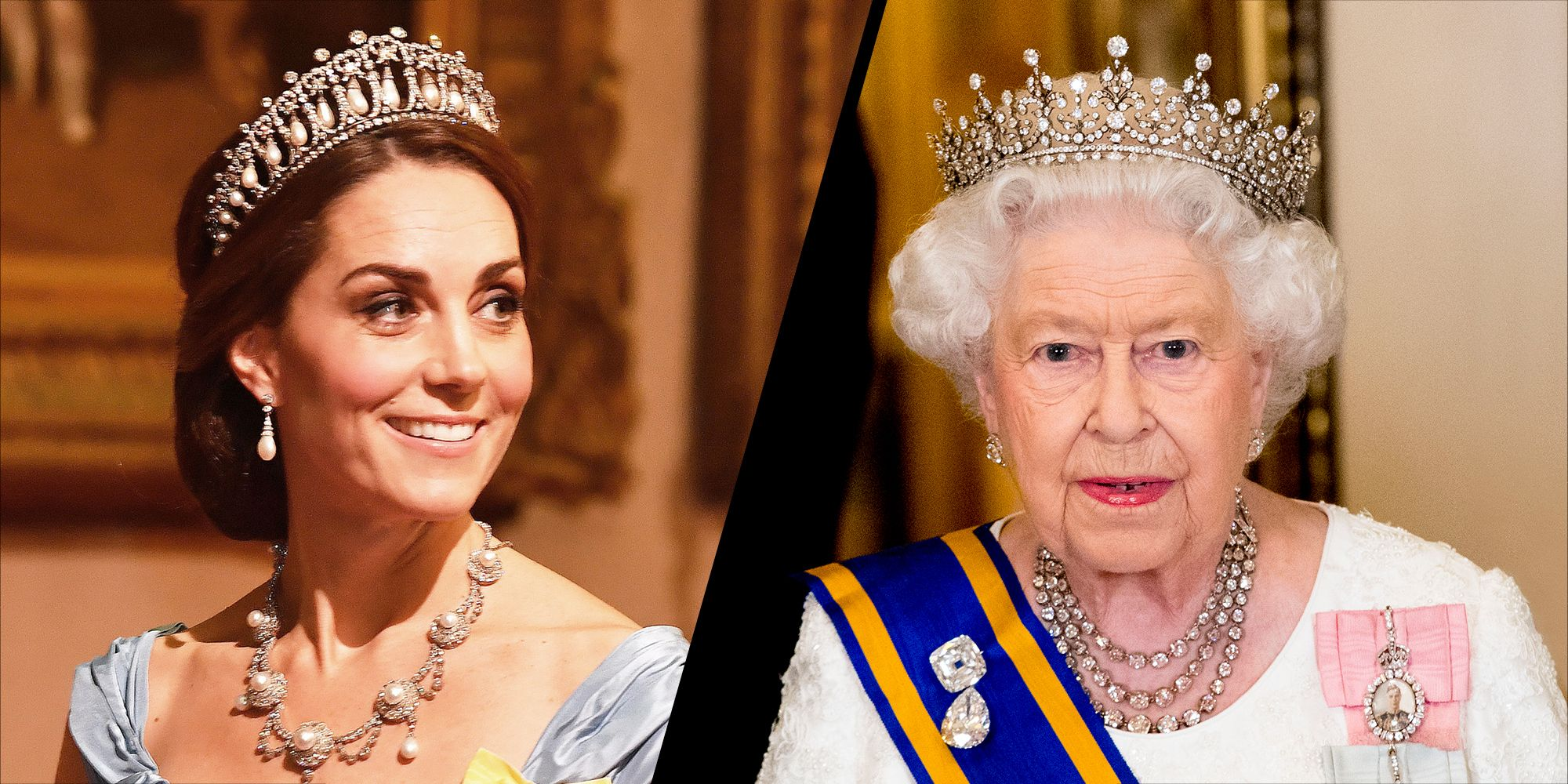 Kate Middleton, The Queen wearing tiaras