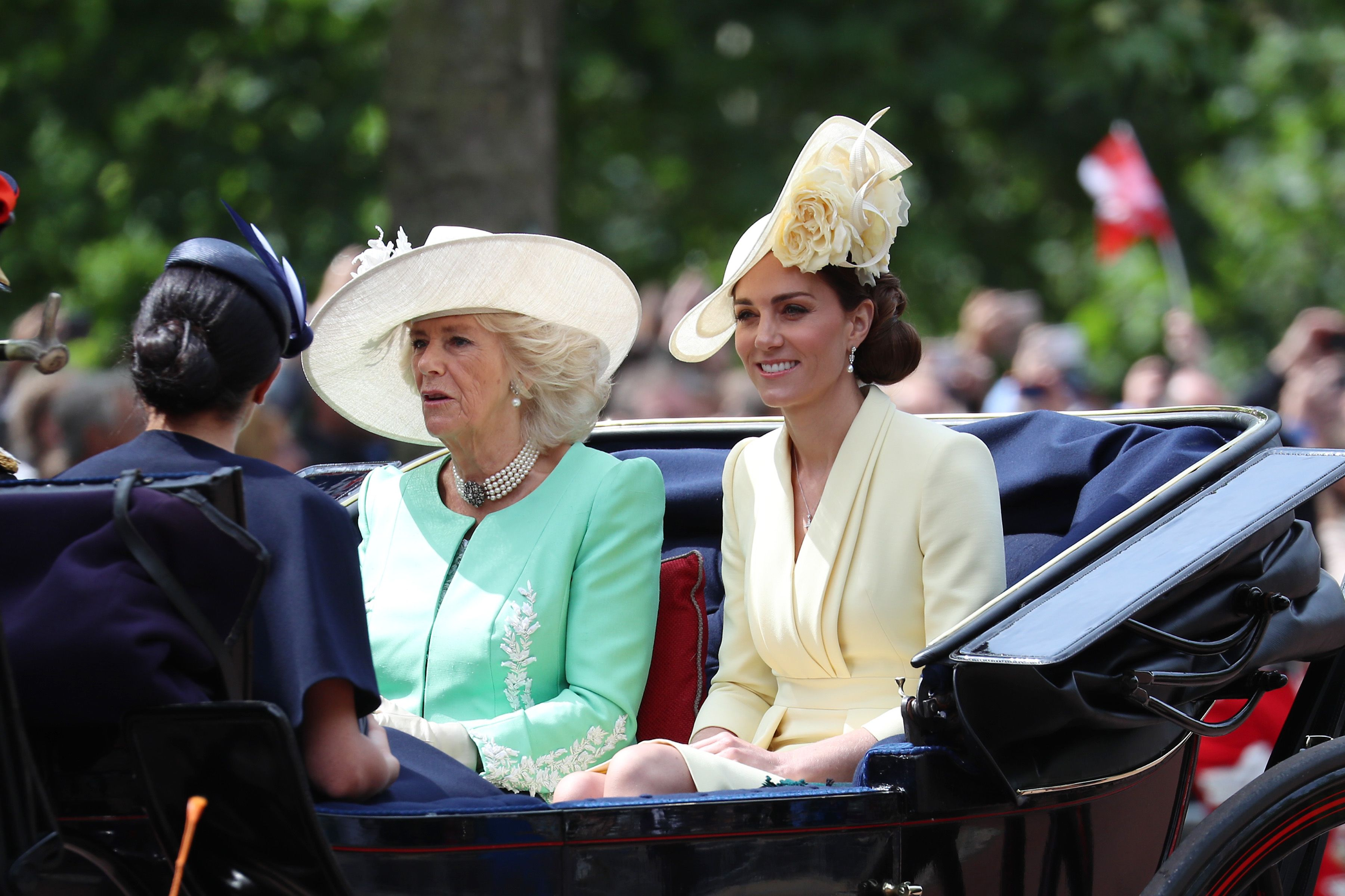 Kate Middleton arrives at Trooping the Colour 2019 in yellow