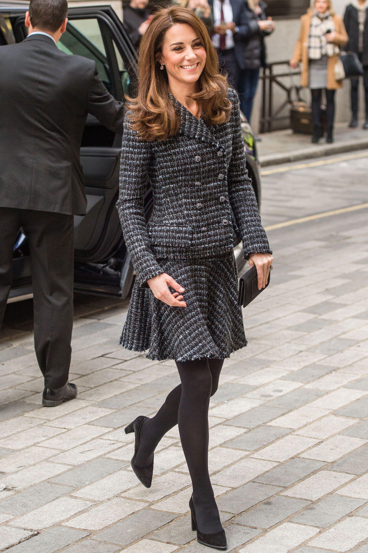 Duchess of Cambridge wearing tweed skirt suit