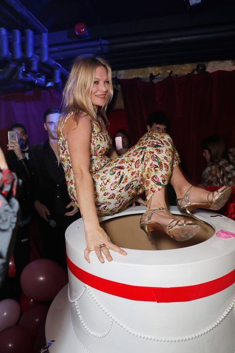Remarkable Kate Moss Channelled Marilyn Monroe And Jumped Out Of A Cake Funny Birthday Cards Online Alyptdamsfinfo
